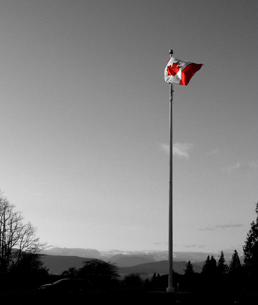 Flagpole outside the Chan Centre - UBC