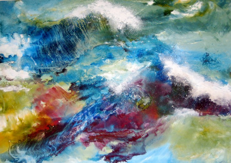 Abstract Painting by Hazel Allen