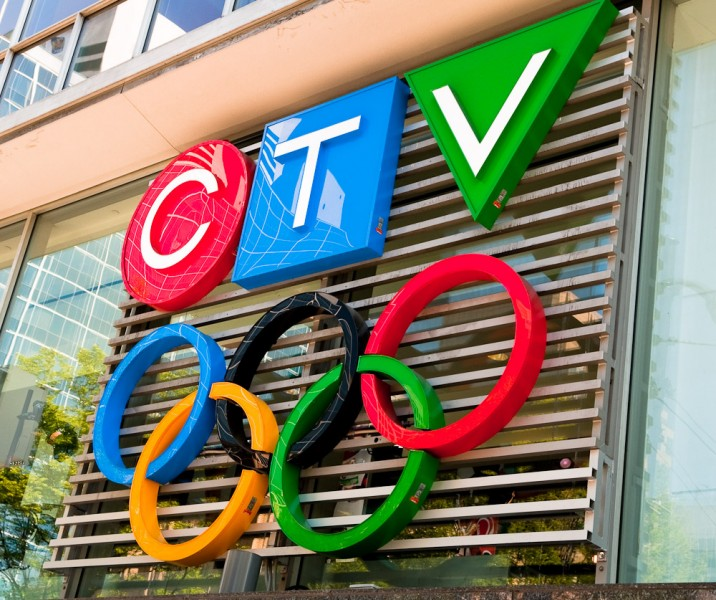 CTV's sign outside the Vancouver studios on the open house day